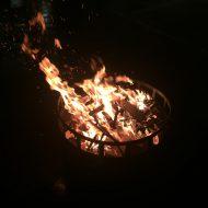 Feuerschale beim Winterfest